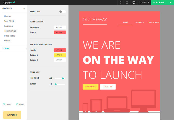 on the way email newsletter template