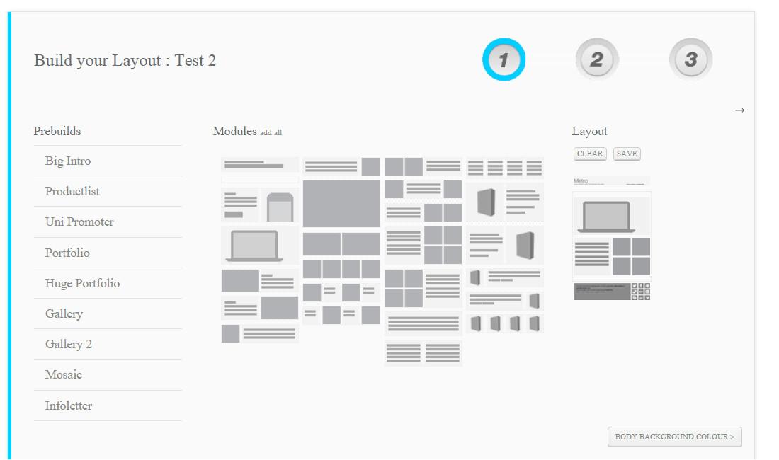 responsive template builder