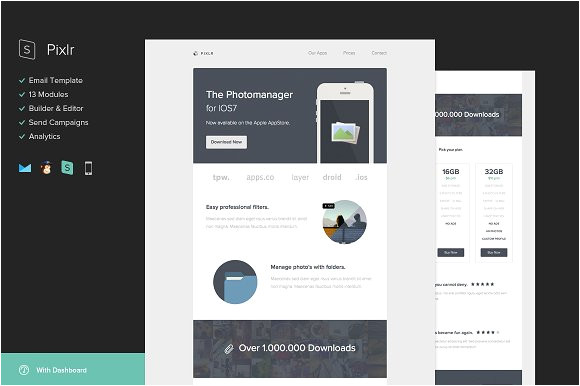 34603 pixlr email template builder