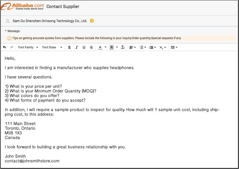 Email Template for Alibaba Alibaba Review the Ultimate Guide to sourcing Products