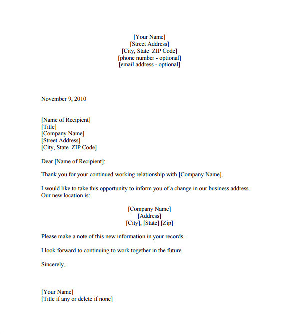 business letter templates
