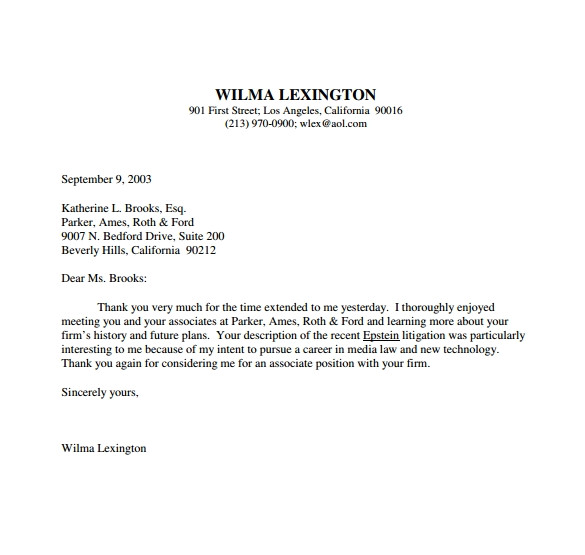 follow up email after interview template