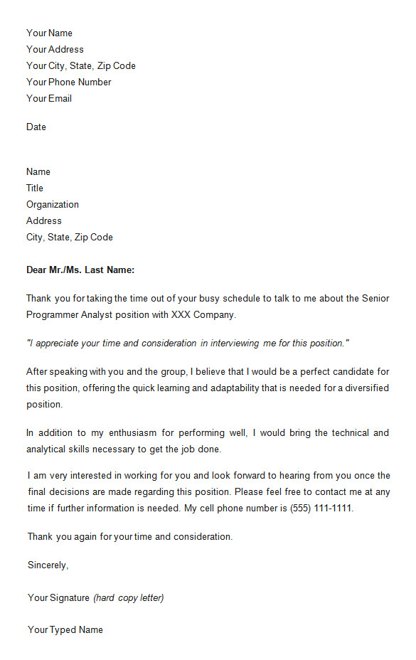 follow up email after interview