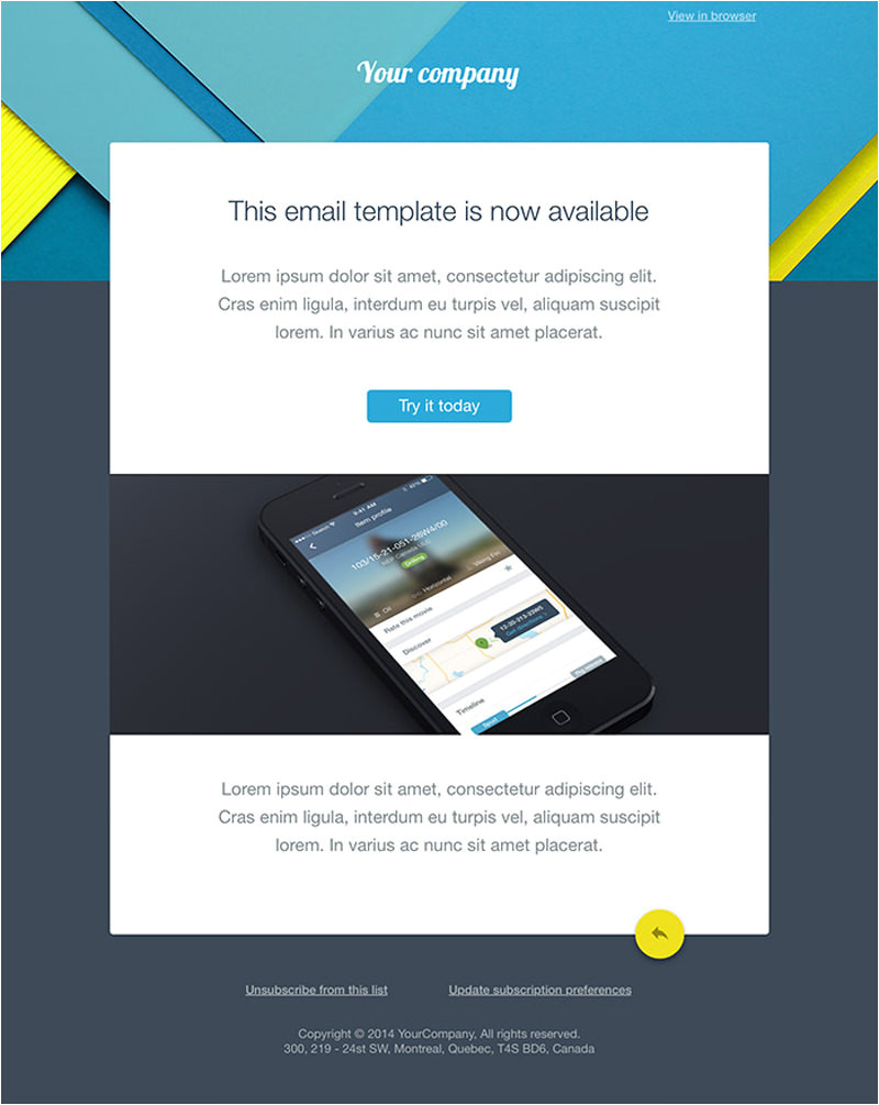 Email Template for Web Design Company 20 Free Business Newsletter Templates to Download Hongkiat