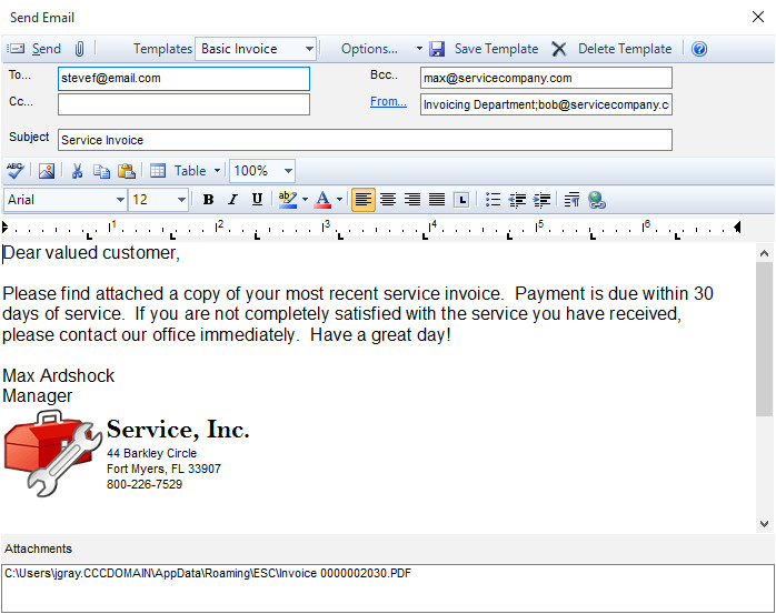 211582637 emailing invoices and quotes