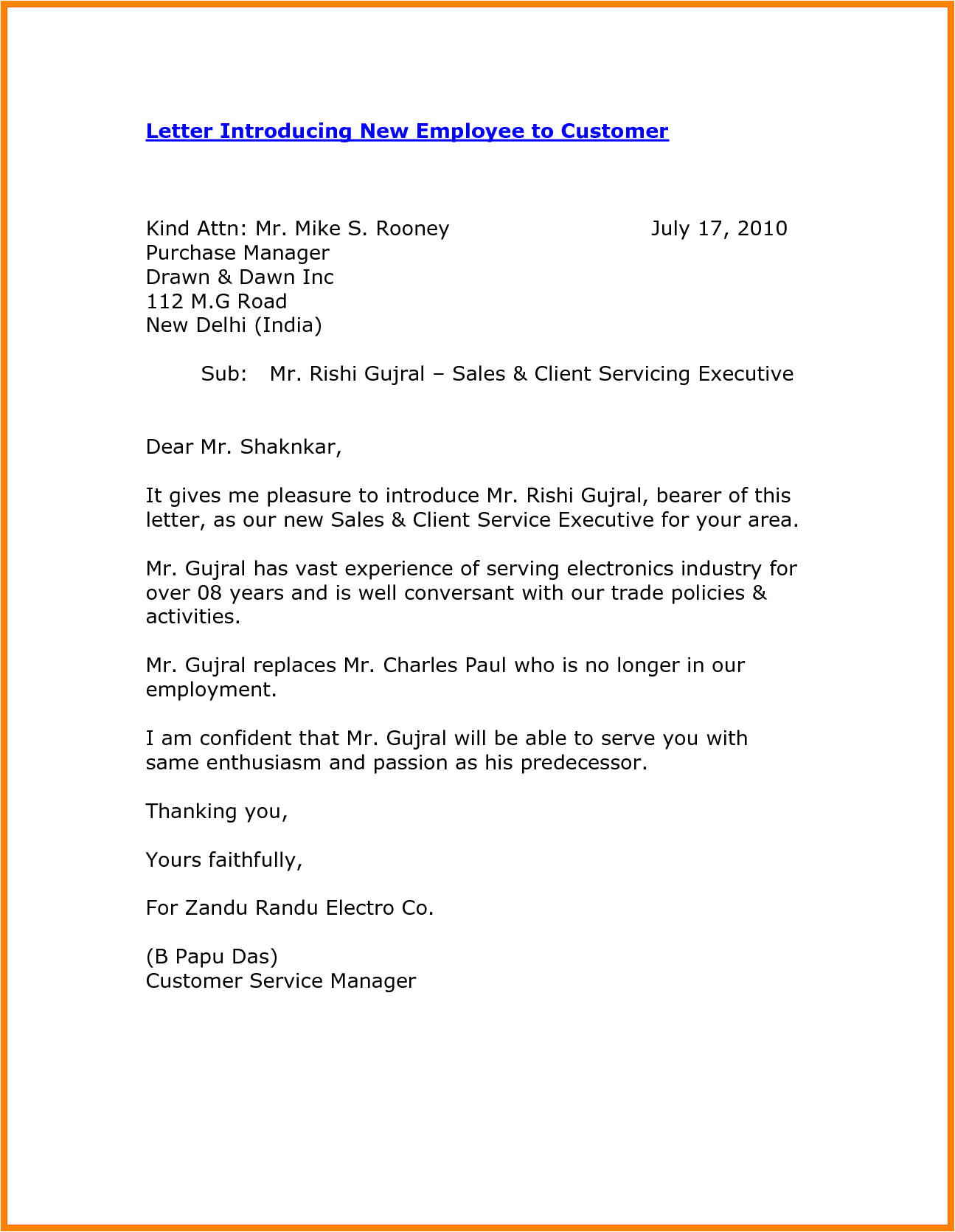 8 self introduction email sample for new employee