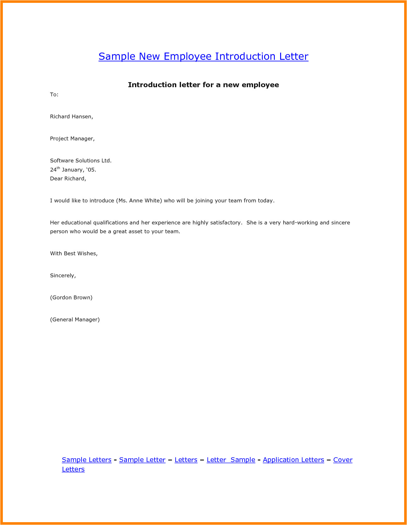 9 introduction email for job