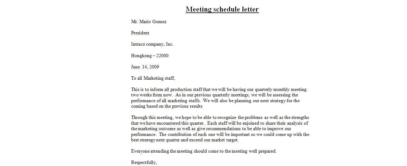 email template to schedule a meeting 3458