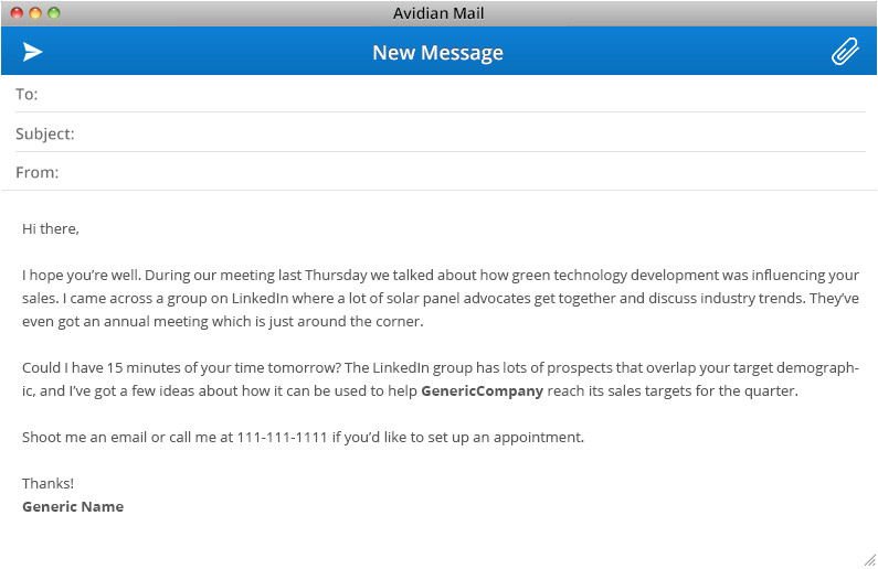Email Template to Set Up A Meeting Business Email Template 27 Examples to Skyrocket Your Results