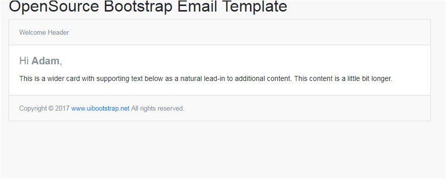 bootstrap email template
