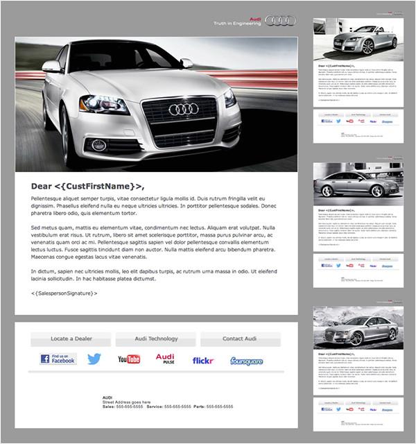 audi branded automotive dealership email newsletter
