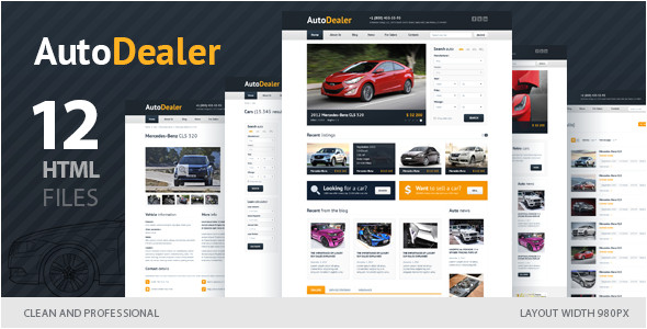 Email Templates for Car Dealerships Auto Dealer Car Dealer HTML Template by Winterjuice