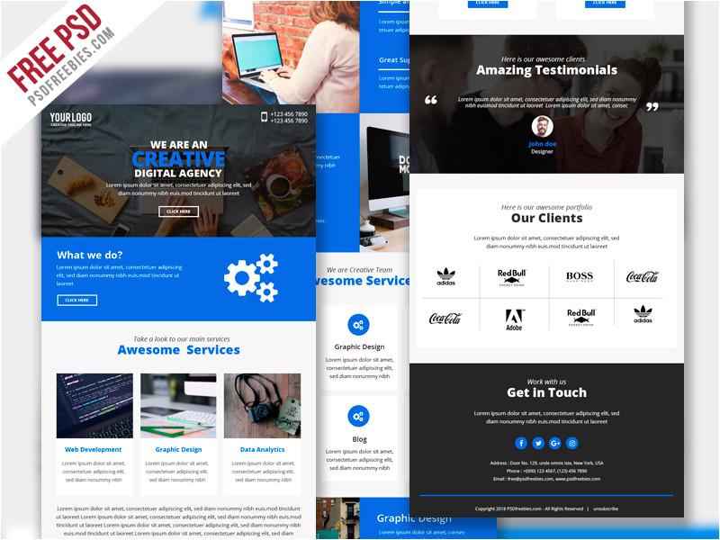 Emailers Templates Business Marketing Emailer Template Psd Psdfreebies Com