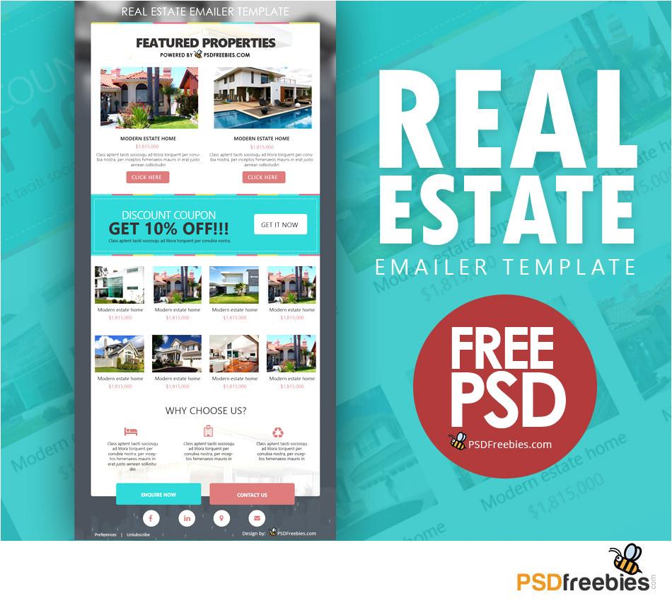 real estate e mailer template psd