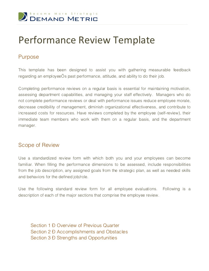 performance review template 12325320