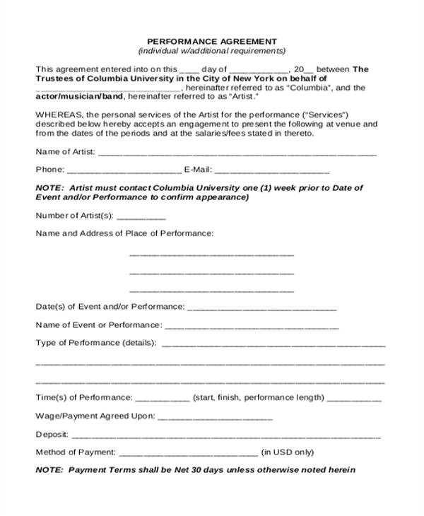sample contract agreement format