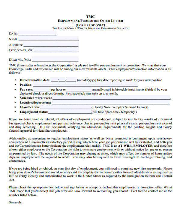 offer letter template in pdf