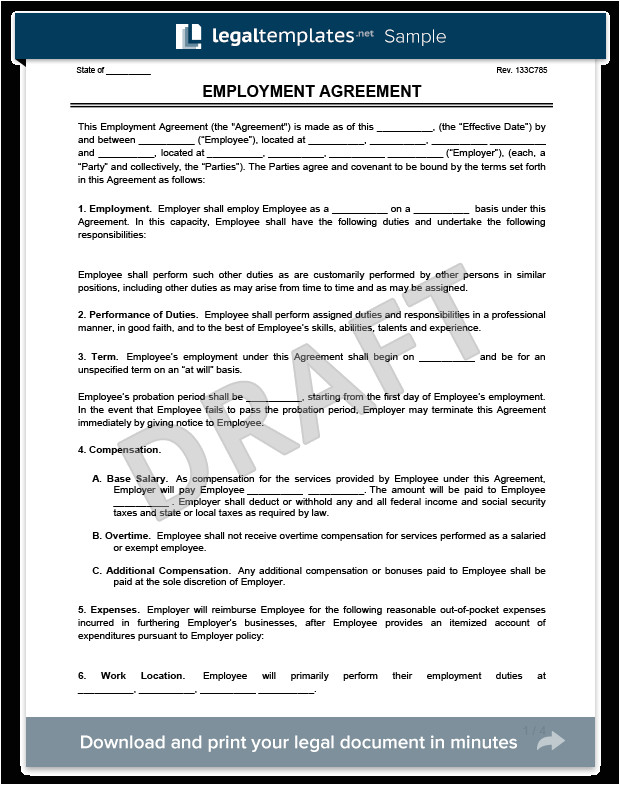 Employers Contract Template Create An Employment Contract In Minutes Legaltemplates