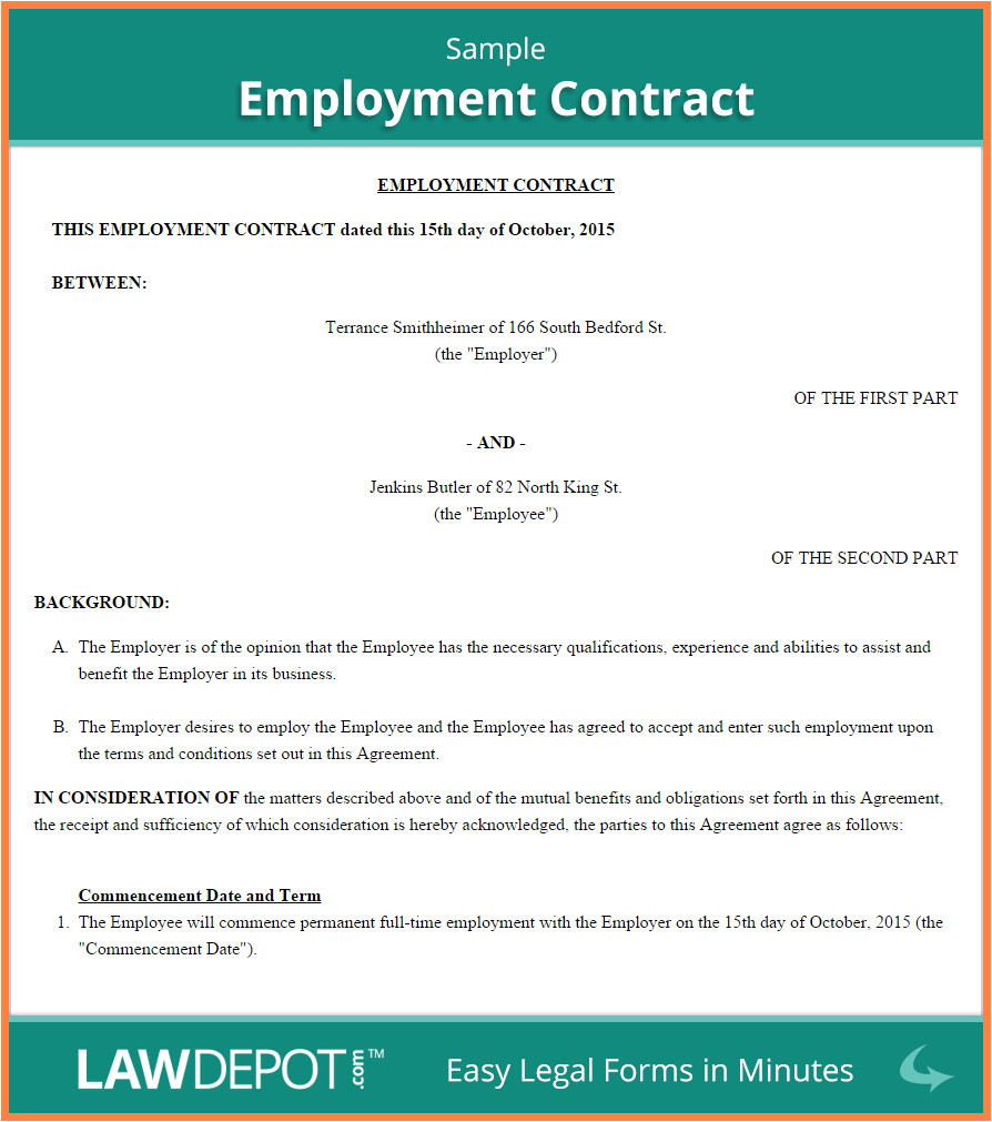 6 employment agreement template australia
