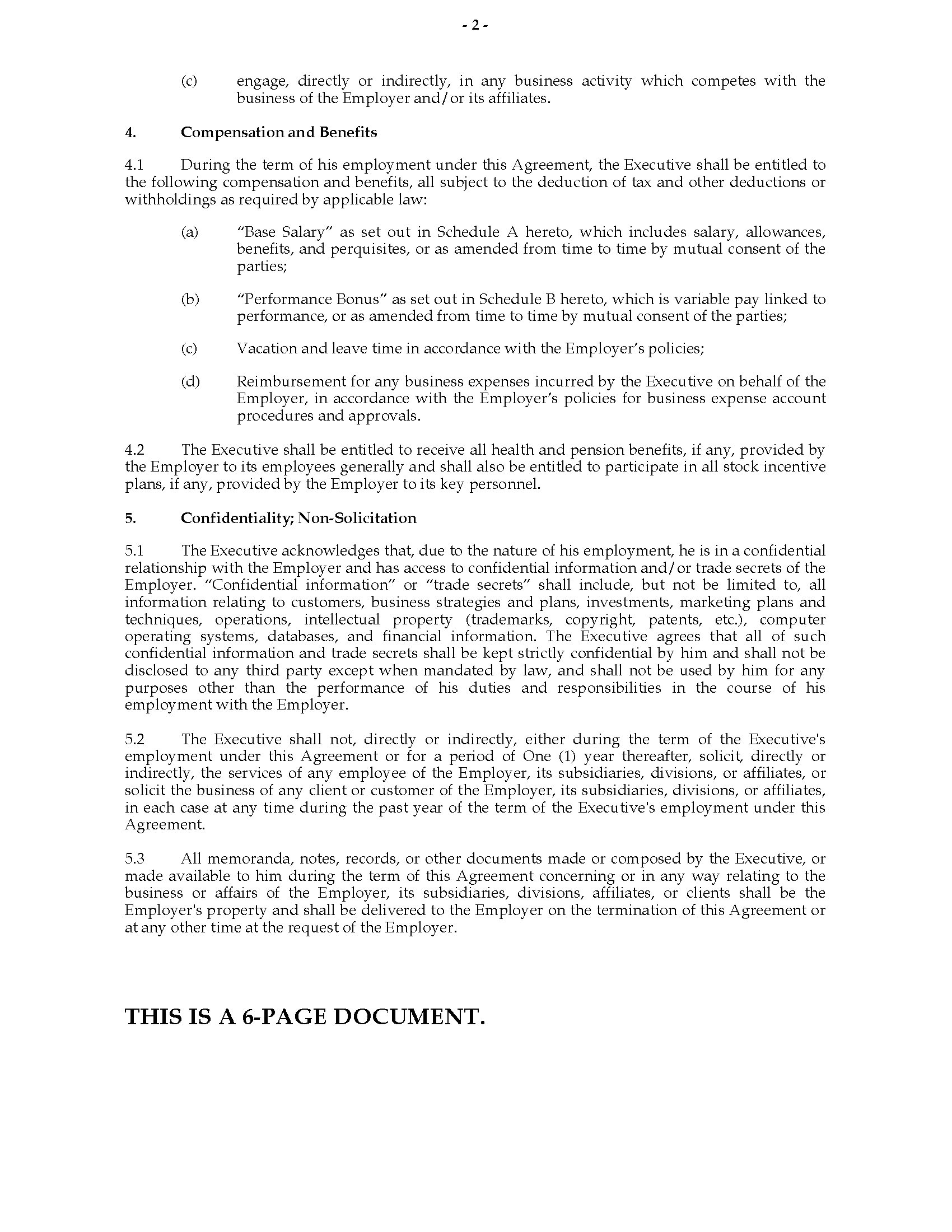 Employment Contract Template India India Employment Agreement for Executive Position Legal