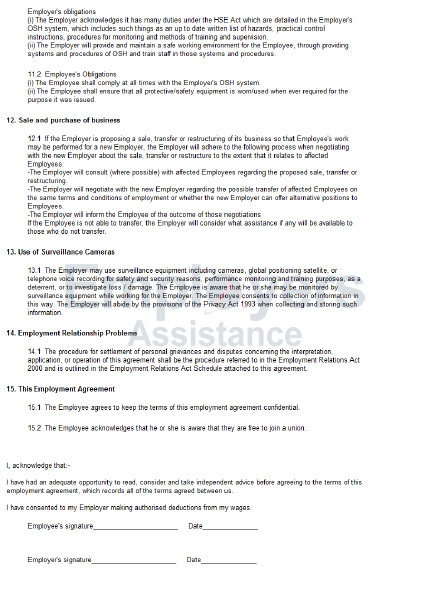 casual employment contract product