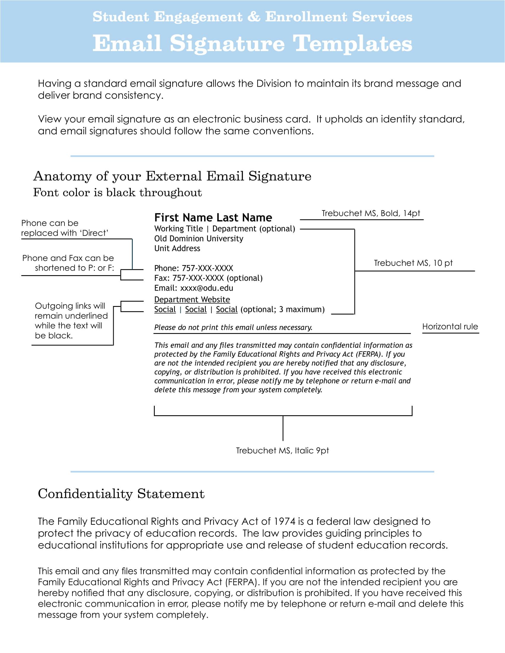 email signature examples pdf