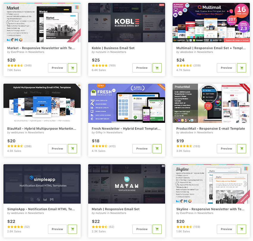 20 responsive email newsletter templates for 2019 marketing campaigns cms 26156