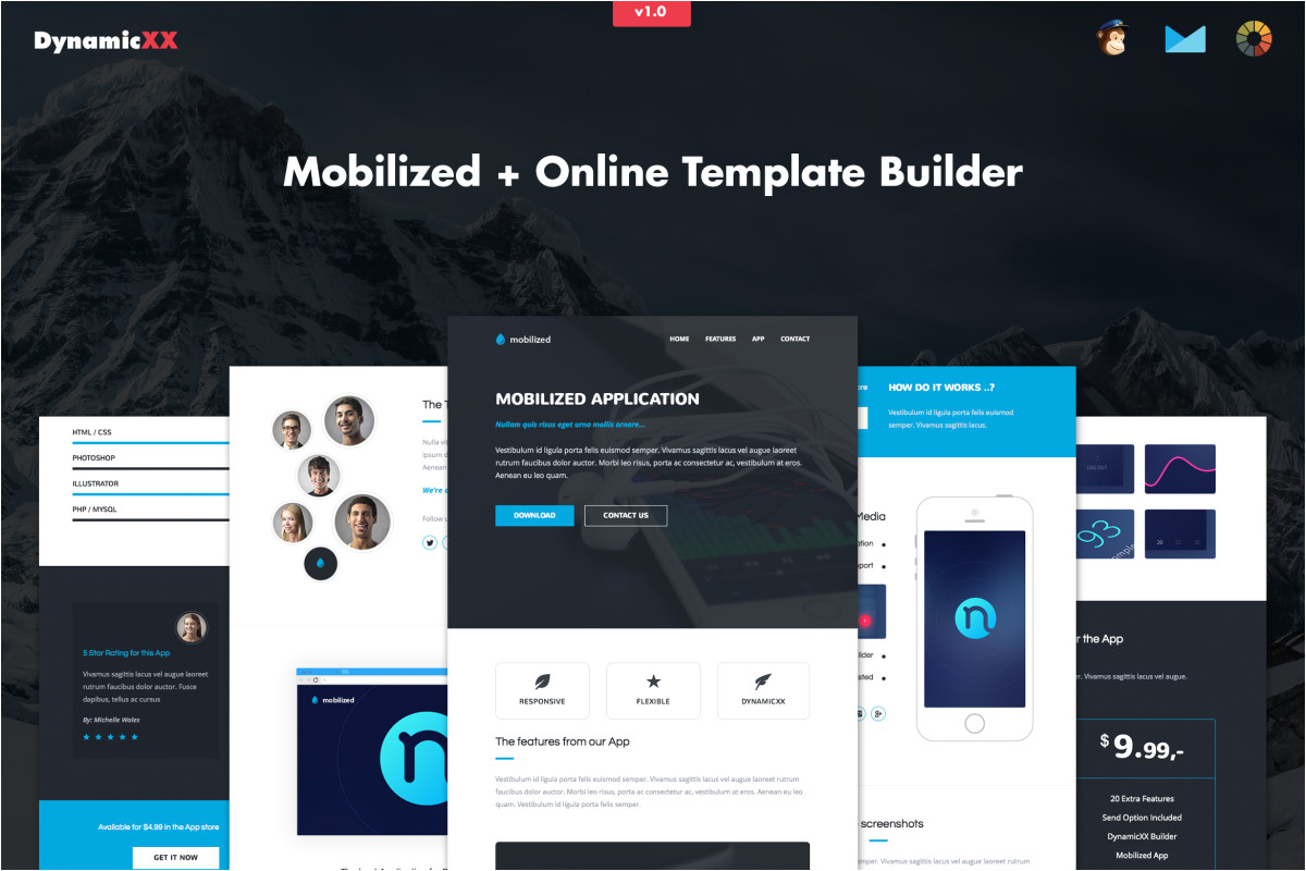 mobilized responsive app email template zbkmcu