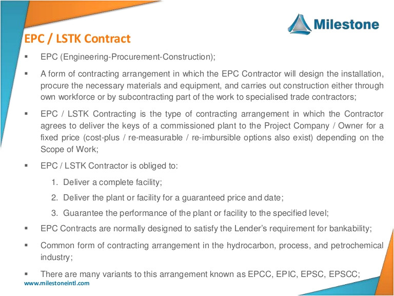 epc lstk standard contract forms