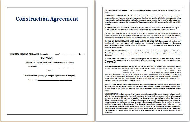 epcm contract template