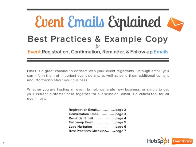 Event Follow Up Email Template 4 event Emails Explained