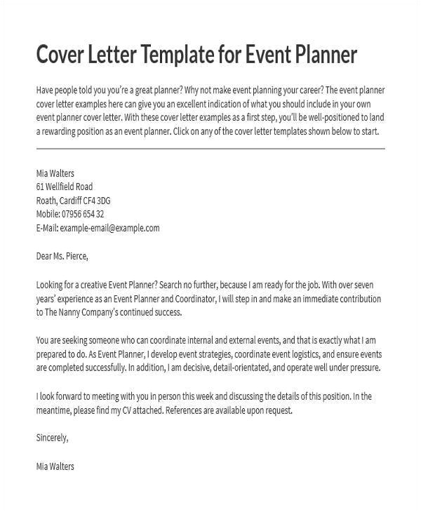 event proposal letters