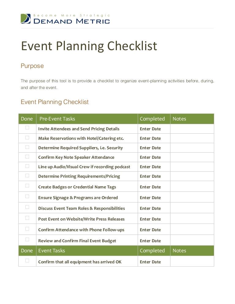 event planning checklist 12316234