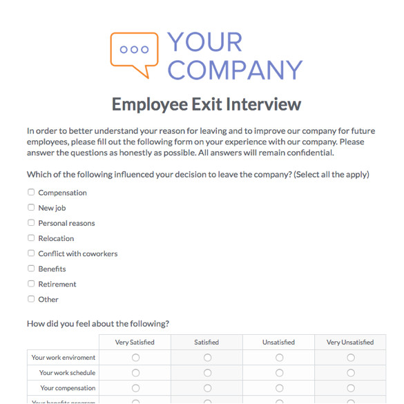 the employee exit form why not the past relationships exit form