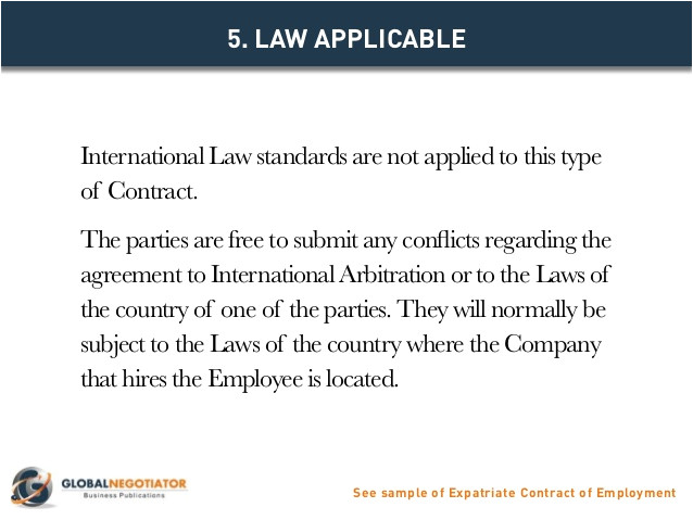 expatriate contract of employment