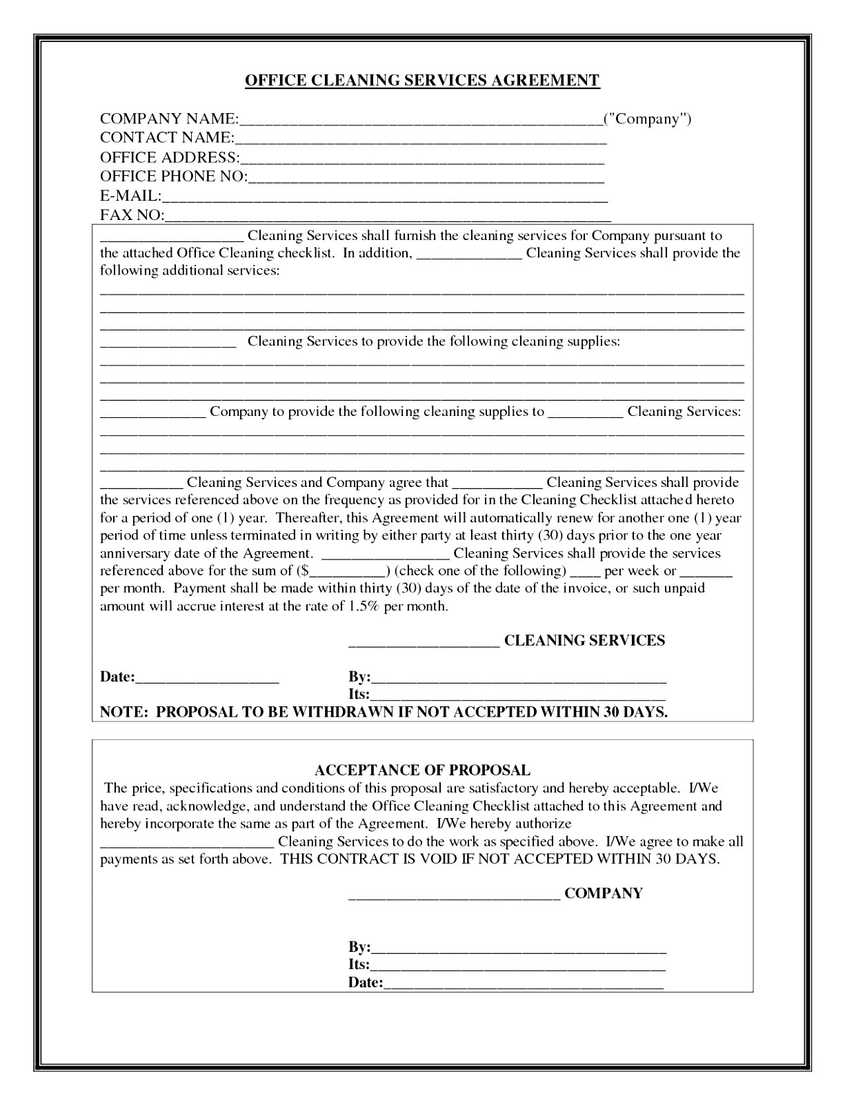 facilities management contract template