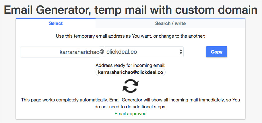 temporary fake email generator