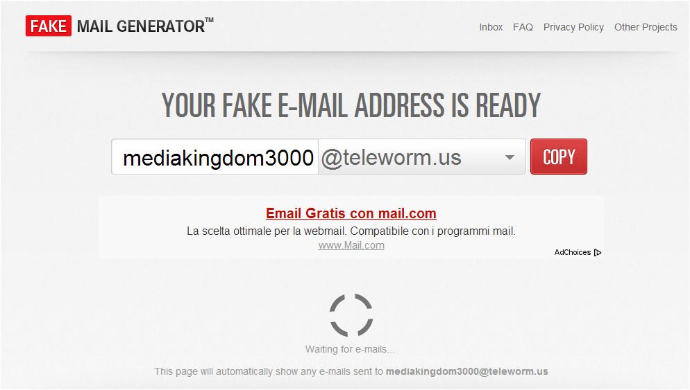 fake mail generator un generatore automatizzato di indirizzi mail temporanei 9779