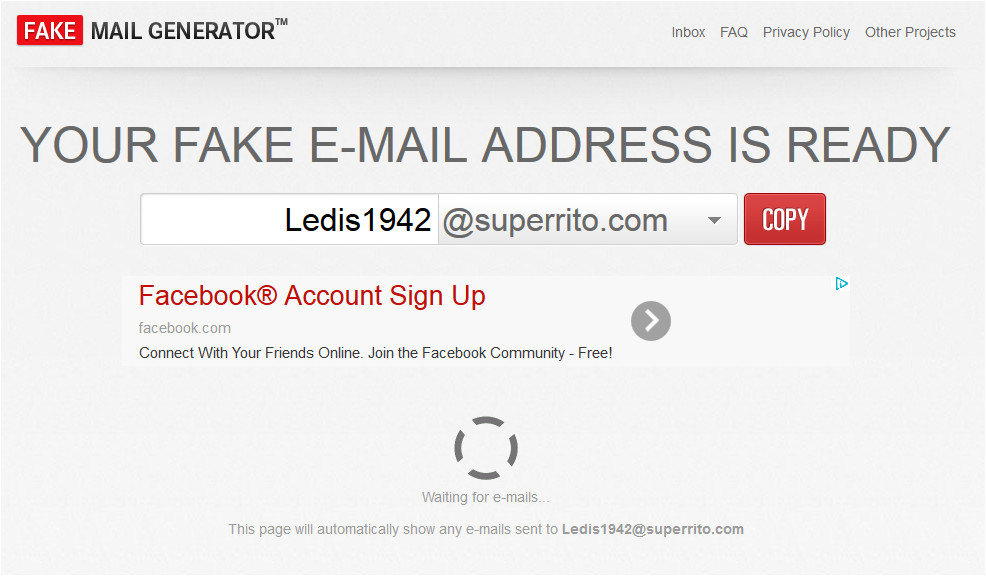 7 sites to generate tamporary e mail address