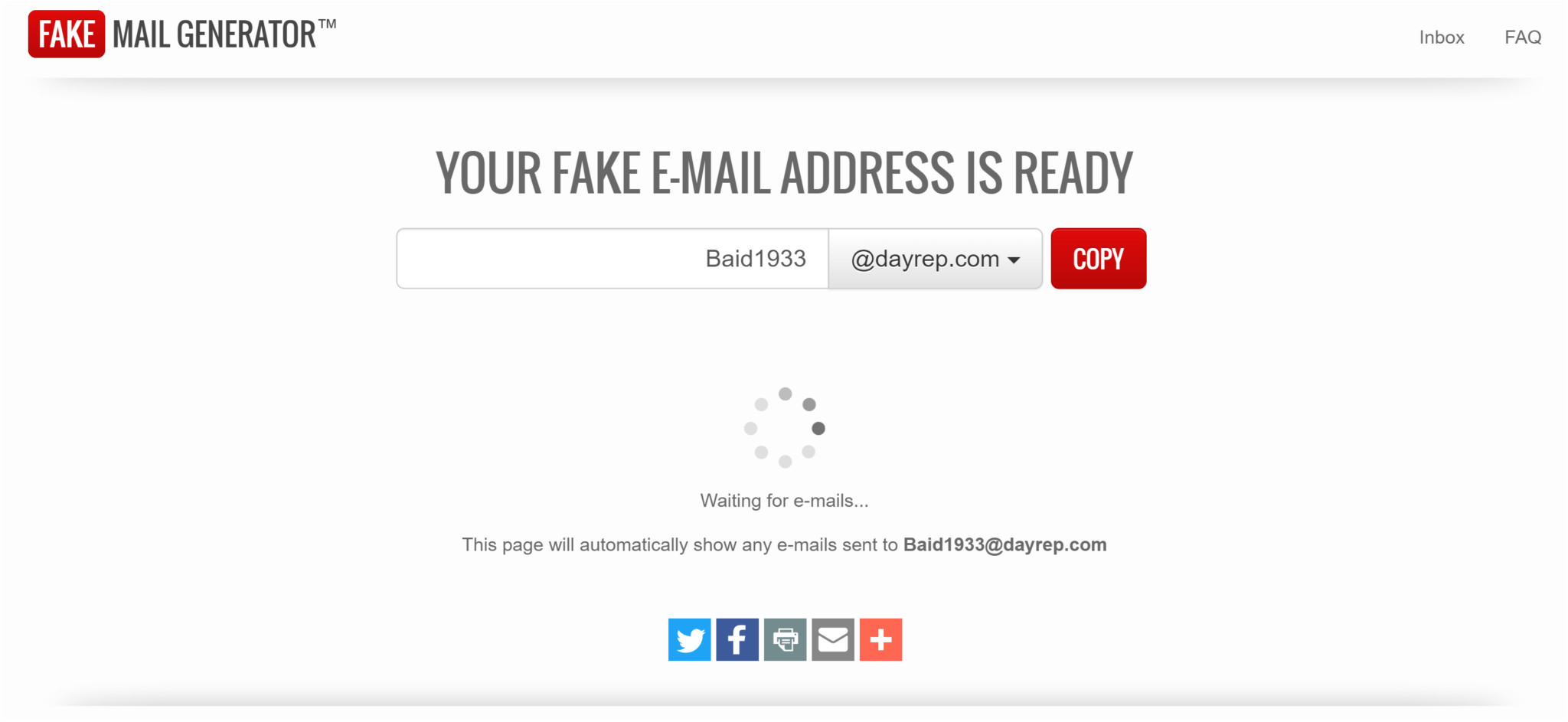 fake email generator disposable email