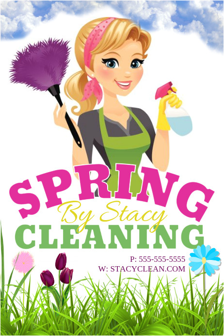 spring cleaning flyer template
