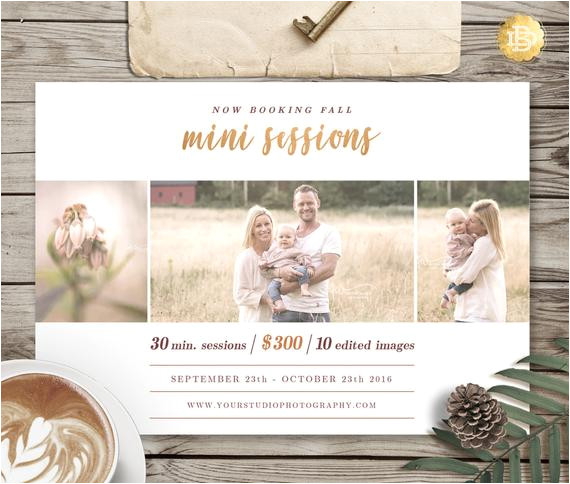 fall family mini session template for
