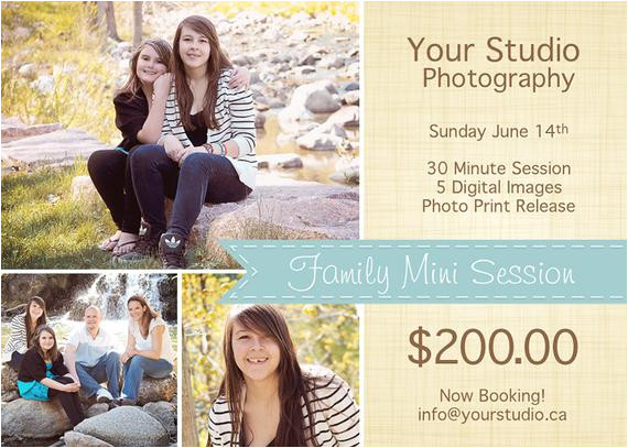 Family Photography Email Templates Spring Mini Session Template Psd Template Spring Marketing