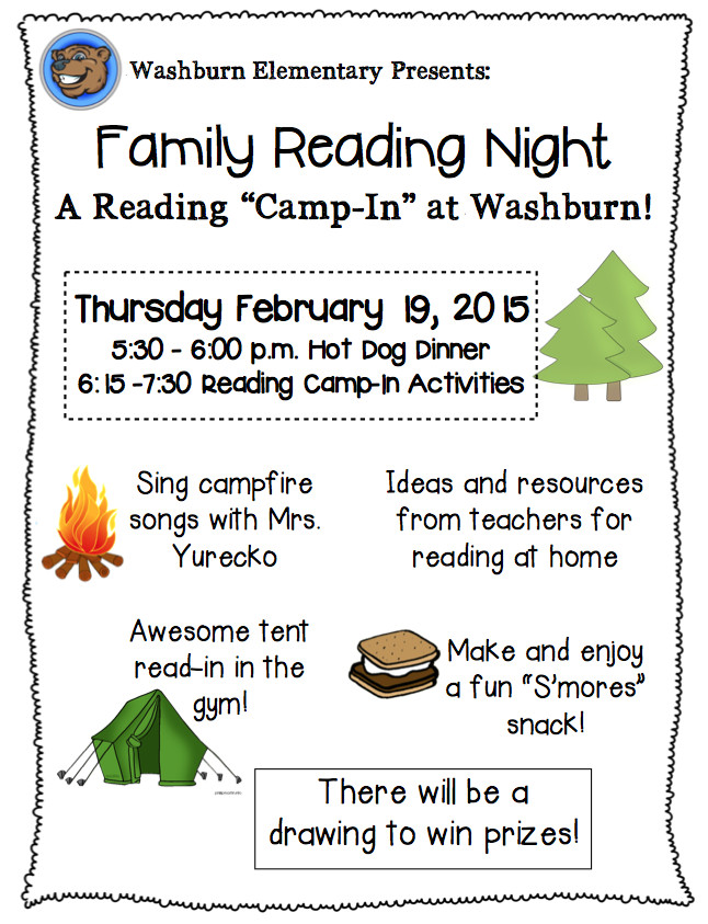 Family Reading Night Flyer Template Family Reading Night Rmersch