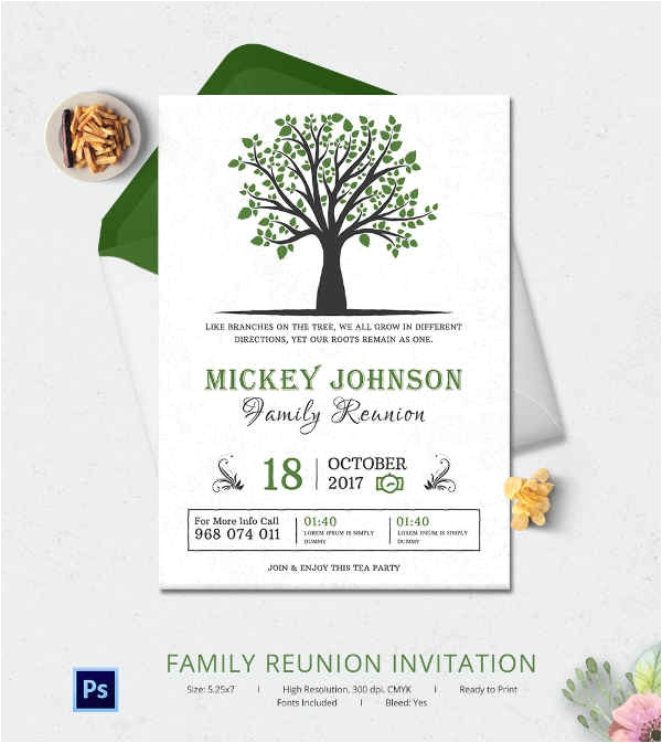 family reunion invitation template