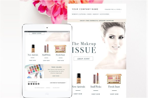 767855 fashion email template