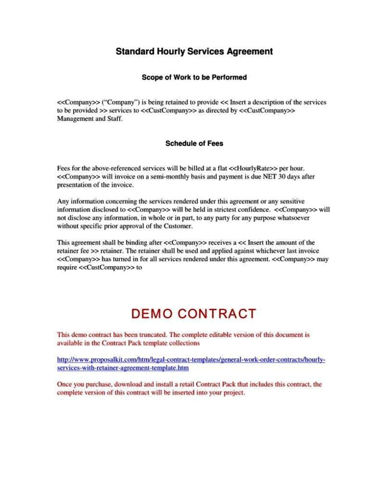 Fee for Service Contract Template Fee for Service Agreement Template Sampletemplatess