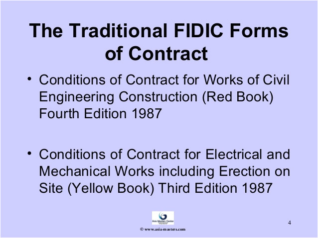 an overview of the fidic forms of contract and contracts committee activities