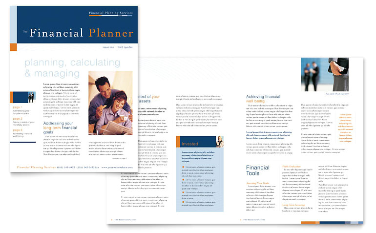 financial planning consulting newsletter templates fn0040301d