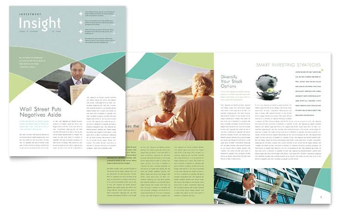 financial advisor newsletter template design fn0230301